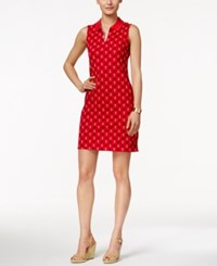 Charter Club Sleeveless Anchor Print Polo Dress Only At Macy's Red Barn