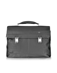Piquadro Vibe Front Pocket Laptop And I Pad Briefcase Black