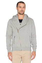 Scotch And Soda Biker Hooded Zip Sweater Gray