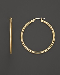 Roberto Coin 18K Yellow Gold Round Hoop Earrings No Color