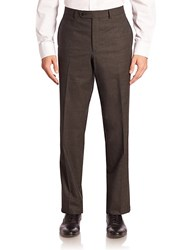 Saks Fifth Avenue Red Collection Tonal Micro Wool Dress Pants Grey