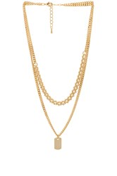 8 Other Reasons Charlie Necklace Metallic Gold