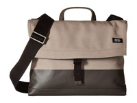 Jack Spade Dipped Industrial Canvas Folded Messenger Granite Brown Messenger Bags