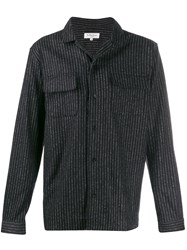 Ymc Striped Mandarin Collar Shirt 60
