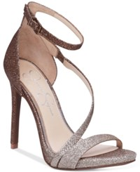 Jessica Simpson Rayli Evening Dress Sandals Women's Shoes Bronze Silver Ombre