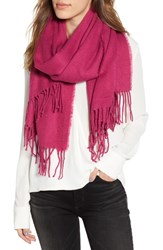 Trouve Solid Scarf Purple Plumier