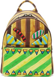Fendi Multicolor Striped Bag Bugs Backpack