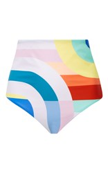 Mara Hoffman Meridian High Waisted Bikini Bottom Multi