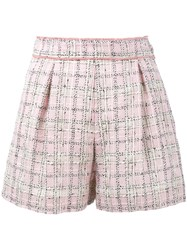 Miu Miu Tweed Shorts Pink Purple