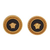 Versace Gold And Black Tribute Earrings