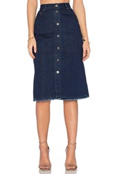 Nicholas Denim Button Up Skirt Mid Blue