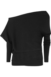 Tom Ford One Shoulder Cashmere And Silk Blend Sweater Black