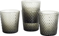 Cb2 Set Of 4 Scale Smoke Double Old Fashioned Glasses
