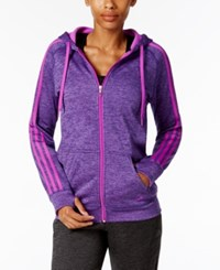 Adidas Team Issue Fleece Hoodie Shock Purple
