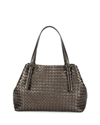 Bottega Veneta A Shape Medium Woven Tote Bag Brunito