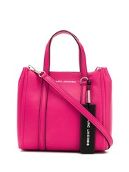 Marc Jacobs Engraved Logo Tote Pink