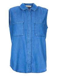 Barbour Auger Sleeveless Shirt Chambray