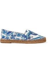 Dolce And Gabbana Printed Jacquard Espadrilles White