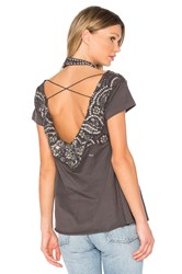 Haute Hippie More Of It All Tee Gray