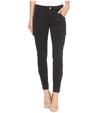 J Brand Mid Rise Houlihan In Distressed Chrome Distressed Chrome Women's Casual Pants Black
