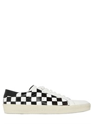 Saint Laurent Court Classic Checkered Leather Sneakers