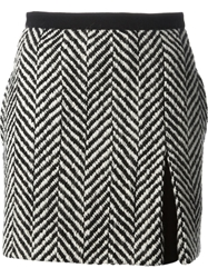 Emanuel Ungaro Chevron Pattern Skirt Black