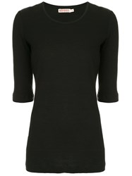 Organic By John Patrick Round Neck Top Black