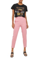 Topshop Women's Tailored Cigarette Trousers Pink