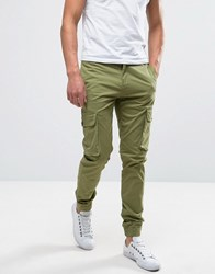 Casual Friday Cargo Trousers With Drawstring Waist Sprout Green