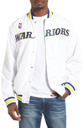 Mitchell And Ness Men's Golden State Warriors Tailored Fit Warm Up Jacket