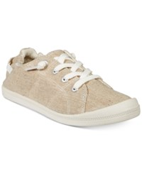 Material Girl Brooke Lace Up Sneakers Created For Macy's Women's Shoes Sand
