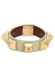 Givenchy Mint Studded Leather Cuff Light Green