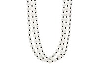 Kenneth Jay Lane Women's Triple Strand Necklace White