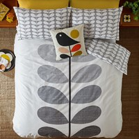 Orla Kiely Placement Scribble Stem Duvet Cover Pebble Grey