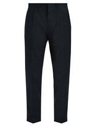 The Gigi Tonga Slim Fit Cropped Cotton Drill Chino Trousers Navy
