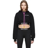 Palm Angels Black Cropped New Basic Hoodie