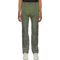 Fear Of God Green Nylon Canvas Double Front Work Trousers