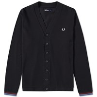 Fred Perry Pique Cardigan Black