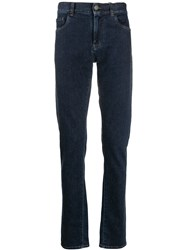 Canali Straight Fit Denim Jeans Blue