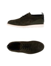 Woodwood Lace Up Shoes Dark Blue