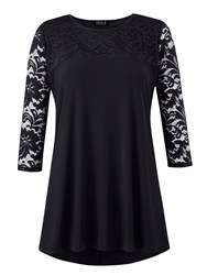 Grace Lace Tunic Black