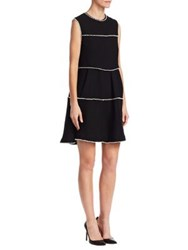 Edward Achour A Line Ruffle Dress Noir
