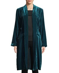 Cupcakes And Cashmere Albany Velvet Duster Jacket Green