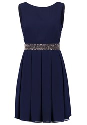 Miss Parisienne Cocktail Dress Party Dress Navy Dark Blue
