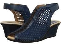 Earth Calla Deep Blue Suede Women's Wedge Shoes Navy
