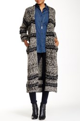 Ooberswank Long Knit Sweater Coat Multi