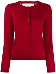Red Valentino Knitted Cardigan Red