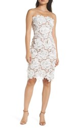 Adelyn Rae Jade Strapless Lace Dress White Nude