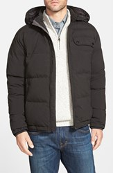 Men's Rodd And Gunn 'Leverett' Water Resistant Quilted Down Jacket With Removable Hood Black