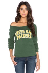 Junk Food Packers Champion Sweatshirt Green